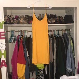 Mustard yellow cami dress